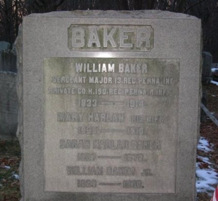 BAKER (CW), WILLIAM - Chester County, Pennsylvania | WILLIAM BAKER (CW) - Pennsylvania Gravestone Photos