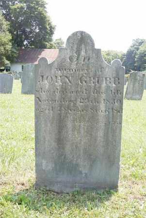 GRUBB, JOHN - Chester County, Pennsylvania | JOHN GRUBB - Pennsylvania Gravestone Photos