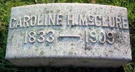 MCCLURE, CAROLINE H. - Chester County, Pennsylvania   CAROLINE H. MCCLURE - Pennsylvania Gravestone Photos