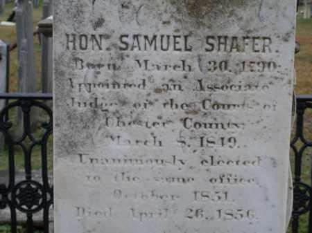 SHAFER, SAMUEL - Chester County, Pennsylvania | SAMUEL SHAFER - Pennsylvania Gravestone Photos