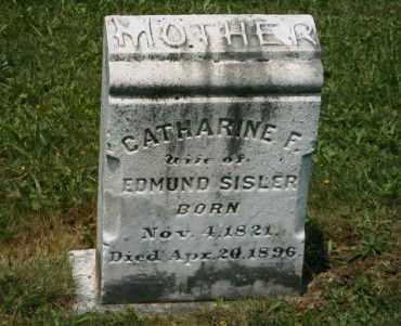 SISLER, CATHARINE F - Chester County, Pennsylvania | CATHARINE F SISLER - Pennsylvania Gravestone Photos