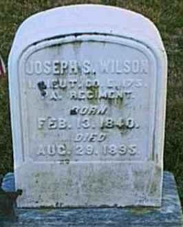 WILSON (CW), JOSEPH S. - Chester County, Pennsylvania | JOSEPH S. WILSON (CW) - Pennsylvania Gravestone Photos