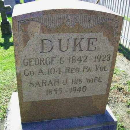 DUKE (CW), GEORGE C. - Columbia County, Pennsylvania | GEORGE C. DUKE (CW) - Pennsylvania Gravestone Photos
