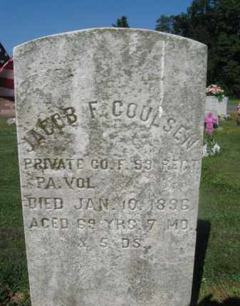 COULSEN (COULSON), JACOB F.(L) - Cumberland County, Pennsylvania | JACOB F.(L) COULSEN (COULSON) - Pennsylvania Gravestone Photos