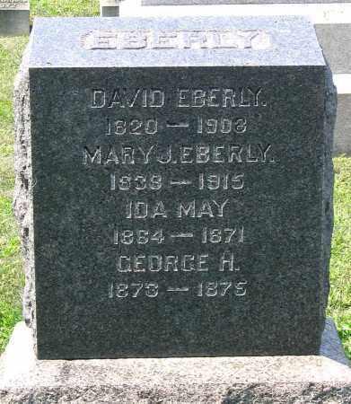 EBERLY, IDA MAY - Cumberland County, Pennsylvania | IDA MAY EBERLY - Pennsylvania Gravestone Photos