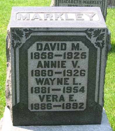 MARKLEY, ANNIE V. - Cumberland County, Pennsylvania | ANNIE V. MARKLEY - Pennsylvania Gravestone Photos