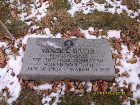 SHULER, VANCE L - Cumberland County, Pennsylvania | VANCE L SHULER - Pennsylvania Gravestone Photos