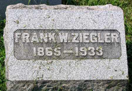 ZIEGLER, FRANK W. - Cumberland County, Pennsylvania | FRANK W. ZIEGLER - Pennsylvania Gravestone Photos