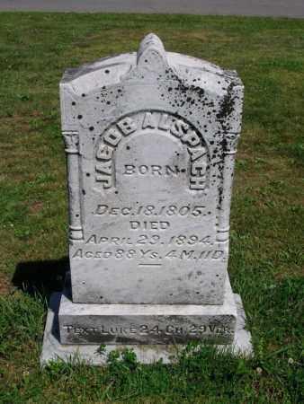 ALSPACH, JACOB - Dauphin County, Pennsylvania | JACOB ALSPACH - Pennsylvania Gravestone Photos