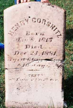 CORSNITZ, HENRY - Dauphin County, Pennsylvania | HENRY CORSNITZ - Pennsylvania Gravestone Photos