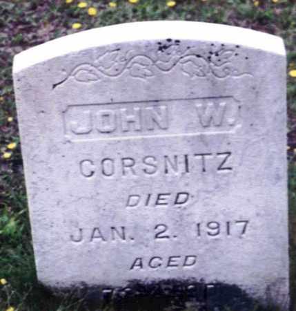 CORSNITZ, JOHN WASHINGTON - Dauphin County, Pennsylvania | JOHN WASHINGTON CORSNITZ - Pennsylvania Gravestone Photos