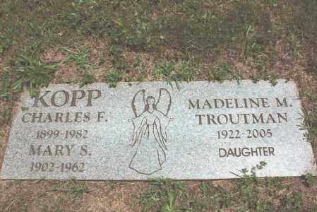 KOPP, MARY - Dauphin County, Pennsylvania   MARY KOPP - Pennsylvania Gravestone Photos