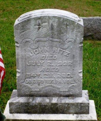RITZ (CA) AKA DREIBELS, RITZ AKA (DANIEL) - Dauphin County, Pennsylvania | RITZ AKA (DANIEL) RITZ (CA) AKA DREIBELS - Pennsylvania Gravestone Photos