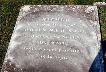 SAWYER, JOHN - Dauphin County, Pennsylvania | JOHN SAWYER - Pennsylvania Gravestone Photos