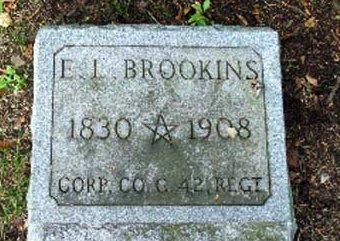 BROOKINS  (BROOKENS) (CW), ELIJAH I. - Elk County, Pennsylvania | ELIJAH I. BROOKINS  (BROOKENS) (CW) - Pennsylvania Gravestone Photos