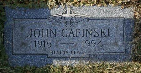 GAPINSKI, JOHN - Elk County, Pennsylvania   JOHN GAPINSKI - Pennsylvania Gravestone Photos