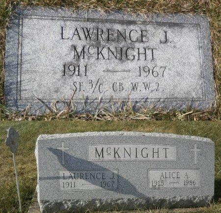 MCKNIGHT, LAWRENCE - Elk County, Pennsylvania | LAWRENCE MCKNIGHT - Pennsylvania Gravestone Photos