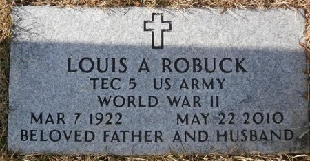 ROBUCK, LOUIS A. - Elk County, Pennsylvania | LOUIS A. ROBUCK - Pennsylvania Gravestone Photos