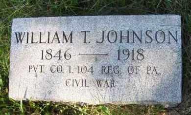 JOHNSON (CW), WILLIAM T. - Fayette County, Pennsylvania | WILLIAM T. JOHNSON (CW) - Pennsylvania Gravestone Photos