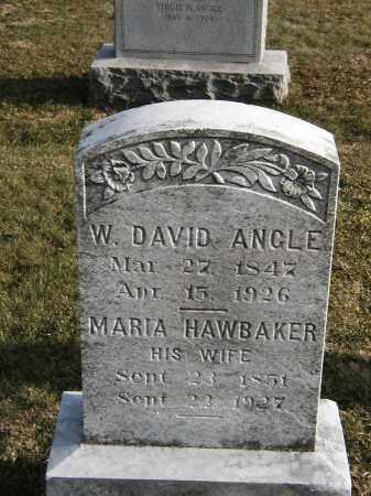 HAWBAKER ANGLE, MARIA - Franklin County, Pennsylvania | MARIA HAWBAKER ANGLE - Pennsylvania Gravestone Photos
