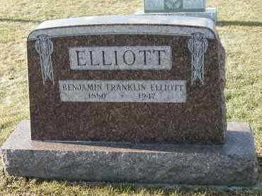 ELLIOTT, BENJAMIN FRANKLIN - Franklin County, Pennsylvania | BENJAMIN FRANKLIN ELLIOTT - Pennsylvania Gravestone Photos
