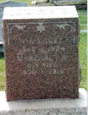 MAGEE, MARGARET A. - Franklin County, Pennsylvania   MARGARET A. MAGEE - Pennsylvania Gravestone Photos