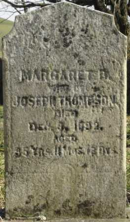 THOMPSON, MARGARET - Greene County, Pennsylvania | MARGARET THOMPSON - Pennsylvania Gravestone Photos