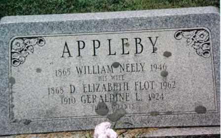 APPLEBY, DORA ELIZABETH - Huntingdon County, Pennsylvania | DORA ELIZABETH APPLEBY - Pennsylvania Gravestone Photos