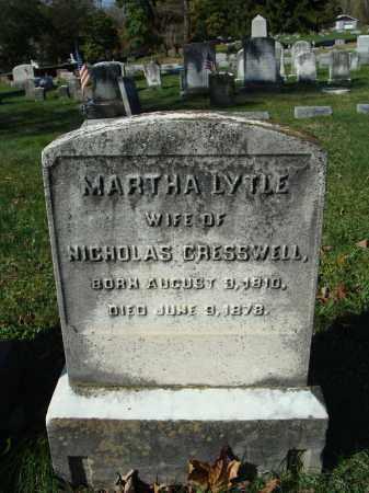 LYTLE CRESSWELL, MARTHA - Huntingdon County, Pennsylvania   MARTHA LYTLE CRESSWELL - Pennsylvania Gravestone Photos