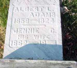 ADAMS, ALBERT L. - Juniata County, Pennsylvania | ALBERT L. ADAMS - Pennsylvania Gravestone Photos