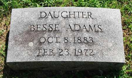 ADAMS, BESSE - Juniata County, Pennsylvania | BESSE ADAMS - Pennsylvania Gravestone Photos