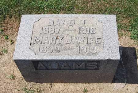 ADAMS, DAVID T. - Juniata County, Pennsylvania | DAVID T. ADAMS - Pennsylvania Gravestone Photos