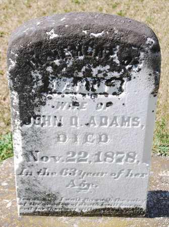 ADAMS, FANNY - Juniata County, Pennsylvania | FANNY ADAMS - Pennsylvania Gravestone Photos