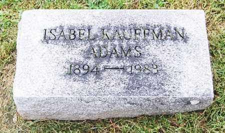 ADAMS, ISABEL - Juniata County, Pennsylvania   ISABEL ADAMS - Pennsylvania Gravestone Photos