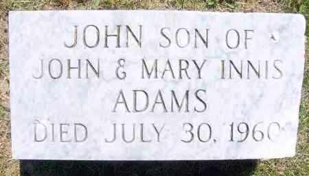 ADAMS, JOHN - Juniata County, Pennsylvania | JOHN ADAMS - Pennsylvania Gravestone Photos