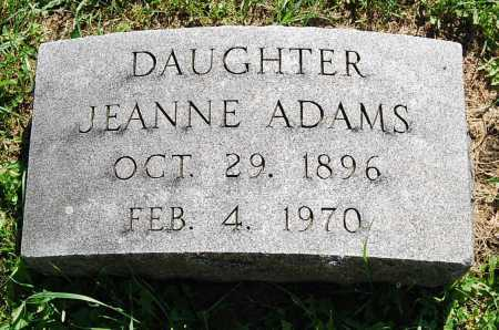 ADAMS, JEANNE - Juniata County, Pennsylvania | JEANNE ADAMS - Pennsylvania Gravestone Photos
