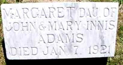 ADAMS, MARGARET - Juniata County, Pennsylvania | MARGARET ADAMS - Pennsylvania Gravestone Photos