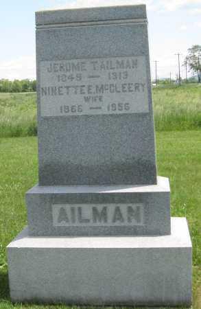 AILMAN, NINETTE E. - Juniata County, Pennsylvania | NINETTE E. AILMAN - Pennsylvania Gravestone Photos