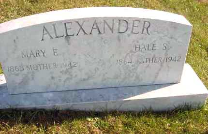 ALEXANDER, HALE S. - Juniata County, Pennsylvania | HALE S. ALEXANDER - Pennsylvania Gravestone Photos