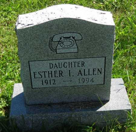 ALLEN, ESTHER I. - Juniata County, Pennsylvania | ESTHER I. ALLEN - Pennsylvania Gravestone Photos