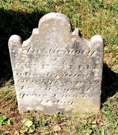 ALLEN, JANE - Juniata County, Pennsylvania | JANE ALLEN - Pennsylvania Gravestone Photos