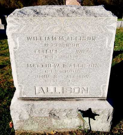 ALLISON, WILLIAM M. - Juniata County, Pennsylvania | WILLIAM M. ALLISON - Pennsylvania Gravestone Photos