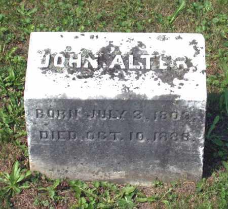 ALTER, JOHN - Juniata County, Pennsylvania | JOHN ALTER - Pennsylvania Gravestone Photos