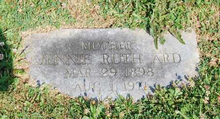 ARD, JENNIE RUTH - Juniata County, Pennsylvania   JENNIE RUTH ARD - Pennsylvania Gravestone Photos