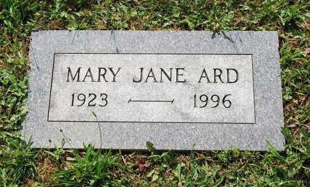 ARD, MARY JANE - Juniata County, Pennsylvania   MARY JANE ARD - Pennsylvania Gravestone Photos