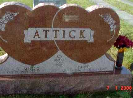 ATTICK, LARRY L. - Juniata County, Pennsylvania | LARRY L. ATTICK - Pennsylvania Gravestone Photos