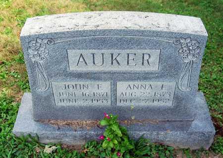 BASHORE AUKER, ANNA L. - Juniata County, Pennsylvania   ANNA L. BASHORE AUKER - Pennsylvania Gravestone Photos