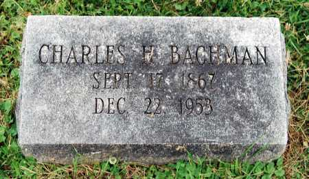 BACHMAN, CHARLES H. - Juniata County, Pennsylvania | CHARLES H. BACHMAN - Pennsylvania Gravestone Photos