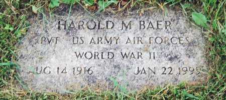 BAER, HAROLD M. - Juniata County, Pennsylvania   HAROLD M. BAER - Pennsylvania Gravestone Photos