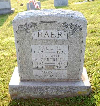 BAER, V. GERTRUDE - Juniata County, Pennsylvania | V. GERTRUDE BAER - Pennsylvania Gravestone Photos